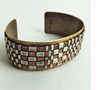"Cuff bracelet Mixed Metal – Brass, Copper and Silver 1¼"" wide"