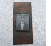 Photo pendant. Copper, vintage photo tumbled glass