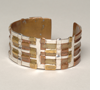 Woven Metals cuff. Silver, Copper, New Gold